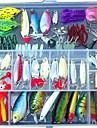 131 pcs leurres de pecheKits de leurre Appat metallique Tetes plombees Grenouille Vers Shad Virgules Poissons nageur/Leurre dur Appats