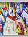 Peint a la main Abstrait / Celebre / Paysage / Paysages Abstraits Peintures a l\'huile,Classique Un Panneau ToilePeinture a l\'huile