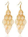 Cercel Leaf Shape Bijuterii 1 pereche La modă Nuntă / Petrecere Aliaj Dame Auriu