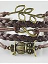 Brățări Bratari Wrap / loom brățară Aliaj Geometric Shape / Ancoră / Bufniță / Iubire Strat dublu / Bohemia Stil / AjustabileZilnic /