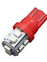 10x cote de coin rouge T10 W5W 10 cms pur conduit sauvegarde inverse lumiere 2825 921 192 906