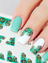 Nail Art Nail Sticker Nagelsmycken / 3D Nagelstickers