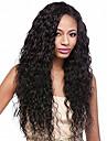 mode vatten våg varm säljande långa hopp naturligt svart peruk kvalitet värmebeständigt hår syntetisk spets främre peruk