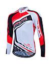 Fastcute® Maillot de Cyclisme Femme / Homme / Unisexe Manches longues VeloRespirable / Sechage rapide / Zip frontal / Zipper YKK / Bandes
