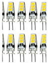 4W G4 LED a Double Broches T 6 SMD 5733 300-400 lm Blanc Chaud / Blanc Froid Decorative / Etanches DC 12 V 10 pieces