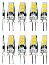 4W G4 LED-lampor med G-sockel T 6 SMD 5733 300-400 lm Varmvit / Kallvit Dekorativ / Vattentät DC 12 V 10 st
