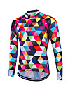 Fastcute® Cycling Jersey Women\'s / Men\'s / Unisex Long Sleeve BikeBreathable / Quick Dry / Front Zipper / YKK Zipper / Reflective Strips