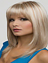 blonda färg långa raka peruker Capless syntetiska peruker för kvinnor