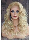 vendange longue vague lache blond perruques resistant a la chaleur avant de dentelle cheveux synthetiques vente chaude