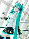 hatsunemiku cosplay peruk lång längd grön färg med hög kvalitet temperatur mode drabbade stil halloween custome peruker