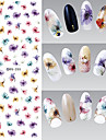 12 Autocollant d\'art de clou Autocollants de transfert de l\'eau Maquillage cosmetique Nail Art Design