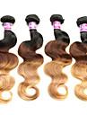 4 Pieces Ondulation Lache Tissages de cheveux humains Cheveux Bresiliens Tissages de cheveux humains Ondulation Lache