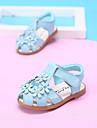 Blå / Rosa / Vit-Platt klack-Flickor-Komfort-Läder-Utomhus-Sandaler