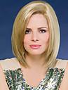 couleur blond courte ligne droite europeenne capless perruques synthetiques pour les femmes afro