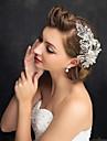 Femei Fata cu Flori Ștras Aliaj Imitație de Perle Diadema-Nuntă Ocazie specială Informal Cordeluțe 1 Bucată