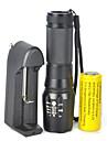 Belysning LED-Ficklampor LED 5000 Lumen 1 Läge Cree XM-L T6 18650 Bimbar Justerbar fokusCamping/Vandring/Grottkrypning Cykling Resa