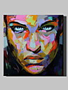 oljemålning modern abstrakt ren handen dra redo att hänga dekorativa ansiktet