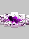 handmålade glödheta kärlek fjäril blommor landskapsoljemålningar på duk 5st / set ingen ram