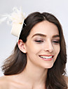 Women\'s Feather / Tulle / Fabric Headpiece-Wedding / Special Occasion / Casual Fascinators 1 Piece