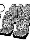 autoyouth court zebre en peluche fixe ajustement universel la plupart des sieges de voiture de direction couvercle siege epauliere de roue