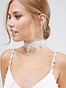 Pentru femei Coliere Choker Κολιέ με Πέρλες tatuaj cravată Circle Shape Perle Dantelă Stil Tatuaj La modă de Mireasă Elegant Bijuterii