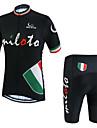 Miloto® Cykeltröja med shorts Herr Kort ärm Cykel Andningsfunktion / Snabb tork / Fuktgenomtränglighet / YKK-dragkedja / Svettavvisande