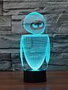 robot de contact gradation 3d conduit de lumiere de nuit lampe atmosphere decoration 7colorful eclairage nouveaute lumiere de Noel
