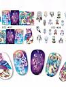 1 nagel konst Sticker Vatten Transfer Dekaler Vackert skönhet Kosmetisk nagel konst Design