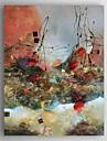 Pictat manual Abstract Picturi de ulei,Modern Un Panou Canava Hang-pictate pictură în ulei For Pagina de decorare