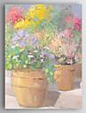 Peint a la main A fleurs/Botanique Peintures a l\'huile,Modern Un Panneau Toile Peinture a l\'huile Hang-peint For Decoration d\'interieur
