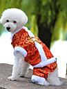 Chien Manteaux / Combinaison-pantalon Rouge / Jaune / Bleu Vetements pour Chien Hiver / Printemps/Automne BrodeeVacances / Mode / Nouvel