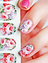 1 Nail Sticker Art Autocollants de transfert de l\'eau Fleur Maquillage cosmetique Nail Art Design