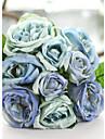 """1 Bunch 1 Une succursale Soie Roses Fleur de Table Fleurs artificielles Total Length:9.9"""";Diameter:6.7"""""""