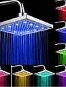 haut la tete de pulverisation d\'eau avec tricolor couleur lumineuse temperature / 8 pouces appoint d\'eau superieure pulverisation (abs