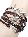 Dame Brățări cu Talismane Bratari Wrap Bratari din piele Ajustabile Incrucisarea La modă Bohemia Stil Aliaj Animal Shape Bijuterii Pentru