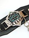 Bijoux Inspire par The Legend of Zelda Cosplay Anime Accessoires de Cosplay Bracelets Noir Alliage / Cuir PU Masculin / Feminin
