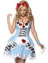 Cosplay Kostymer/Dräkter / Festklädsel Vampyr Festival/Högtid Halloween Kostymer Blå Lappverk Klänning Halloween Kvinna Terylene