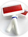 Chat / Chien Toilettage Peignes Animaux de Compagnie Accessoires de Toilettage Portable Blanc Plastique