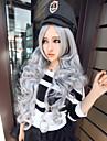 gris ombre perruque longues perruques frisees gris de haute qualite synthetique avant de dentelle pas cher resistant a la chaleur perruque