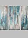 Peint a la main Abstrait Peintures a l\'huile,Modern Trois Panneaux Toile Peinture a l\'huile Hang-peint For Decoration d\'interieur