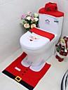 nytt år bäst gåva glada santa toalettsits täcka&matta badrum set juldekorationer