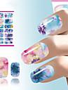 abstrakt nagel konst klistermärke blomma vatten dekaler dekoration kinesiska tuschmåleriet spik wraps för naglar manikyr dekorationer
