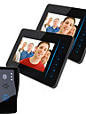7 Inch Color Touch One With Two Wireless Visual Intercom Doorbell Camera Night Rain