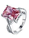 Inele Midi Verighete Inele Afirmatoare Roșu-aprins Iubire La modă Personalizat Piatră Preţioasă Plastic Zirconiu Diamante Artificiale