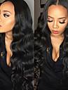 peruanska jungfru hår vågigt u del spets front människohår peruker för kvinnor mittdel spets front peruker
