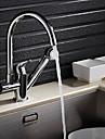 Nutida Utdragbar / Pull-down Centerset Utdragbar dusch with  Keramisk Ventil Singel Handtag Ett hål for  Krom , Kökskran