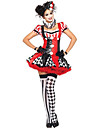 Costumes de Cosplay / Bal Masque / Costume de Soiree Burlesques/Clown Fete / Celebration Deguisement Halloween Rouge MosaiqueRobe / Plus