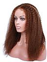 cheveux boucles 14-18 pouces crepus perruques dentelle glueless perruques avant brazilian crepus boucles pour les femmes noires
