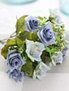 1 1 Une succursale Polyester Roses Fleur de Table Fleurs artificielles 27cm