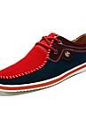 Herr Sneakers Vår Höst Komfort Bullock skor Textil Fritid Platt klack Snörning Blå Gul Röd Grå Marinblå